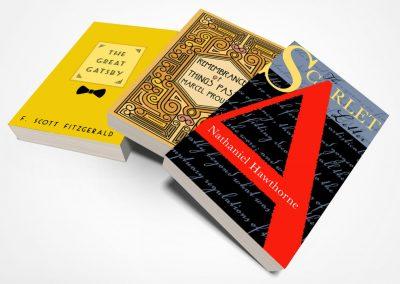 Peter Selgin, Book Cover Designs, Three Paperbacks