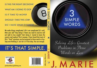 Peter Selgin, Book Cover Designs, 3 Simple Words